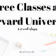 Starting a FREE Course at Harvard University
